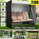 3-seater Swing Seat Chair Hammock Cover Garden Patio Outdoor Furniture Protector