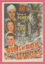 Spanish Pocket Calendar #240 The Rains Came Film Poster Tyrone Power Myrna Loy