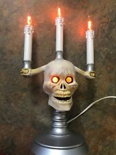 Trendmasters HallowScream Haunted CANDELABRA Skull  Halloween blow mold 1994