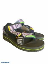 Suicoke Sandals Depa v2 Purple Stripe Green Gray Vibram Comfort Soles Size 8