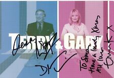THE TERRY & GABY SHOW SIGNED CUE CARD BY TERRY WOGAN DEAN CAIN & MERRILL OSMOND
