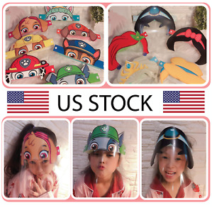 Kids Face shield, anti-fog, elastic headband
