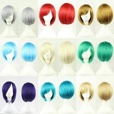 Ladies Short Straight Bob Wigs Women Cosplay Fancy Dress Full Wig Multi Styles