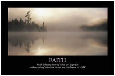Art Print Poster Inspirational Christian Motivational, FAITH, Bible Scripture
