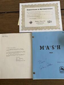 M*A*S*H  November 15, 1978 TV Script Alan Alda INGA SIGNED Autographed MASH COA