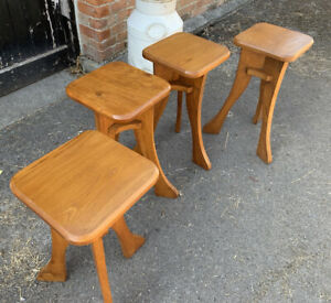 Vintage Elm Stools