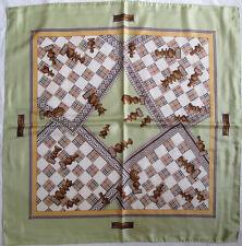c6972421bba -Superbe Foulard BURBERRYS 100% soie TBEG vintage scarf 87 x 88 cm