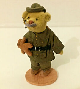 Teddy Roosevelt Little Gem Teddy Bear - Limited Edition w Poster - Rough Riders