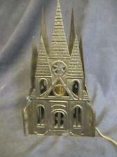 Vintage Brass Gothic Church Table Lamp Night Light ks4