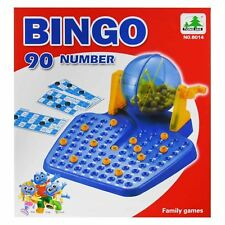 FAMILY BINGO AND LOTTO LOTTERY NUMBERS MACHINE GAME 90 NUMBERED BALL & 48 CARDS