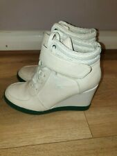 SUPERB LADIES DESIGNER LACOSTE FULL LEATHER WEDGE BOOTS UK 5 RRP £160.00