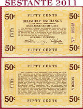 (com) USA UNITED STATES - 50 CENTS SELF HELP EXCHANGE 1933 OKLAHOMA CITY - AUNC