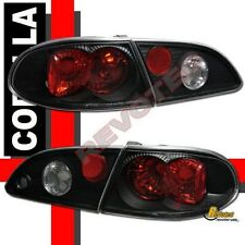 98-02 Toyota Corolla Tail Lights & Trunk Lamps Black 99 00 01 1 Pair