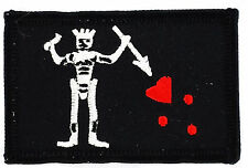FLAG PATCH PATCHES JACK RACKHAM PIRATE ed teach   IRON ON EMBROIDERED SMALL