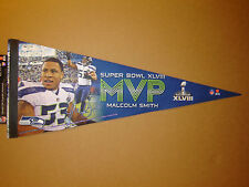 Malcolm Smith Seattle Seahawks Super Bowl 48 MVP Player Pennant