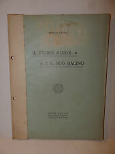 Scienza Geografia Idrologia, Capra: Il Fiume Adige e suo Bacino 1907 Padova Raro