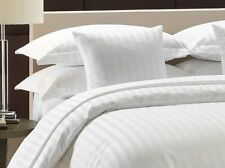 Home 3PC Duvet Cover Set Queen Striped White 100% Egyptian Cotton