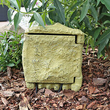 Steckdose Steinoptik Außenbereich für Terrasse Garten 4 fach Stromverteiler IP44