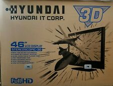 """HYUNDAI 46""""In STEREOSCOPIC 3D LCD Display S465D(3D)  <NEW IN BOX>"""