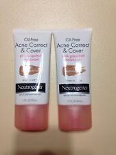 Neutrogena Oil Free Acne Cover Pink Grapefruit Moisturizer Medium To Tan 2 Pack