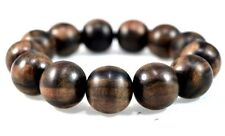 Genuine Makassar Ebony wood (Diospyros celebica) Bracelet beads 18 mm