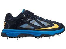 Nike Lunardominate Mens 598047-400 Obsidian Mango Athletic Cricket Shoes Size 11