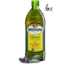 6x Monini Extra Natives Olivenöl 1L nativ olio extravergine di oliva Classico