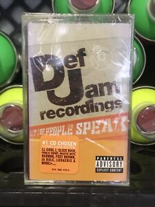 SEALED Def Jam Let The People Speak Cassette Tape Rare MTV 2001 Old School Rap