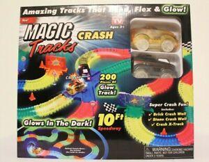 NEW Magic Tracks Crash Race track Set 10 Feet As Seen on TV Glow in the Dark