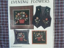Country Appliques Quilt Pattern - Evening Flowers- Designed by Jan Kornfeind