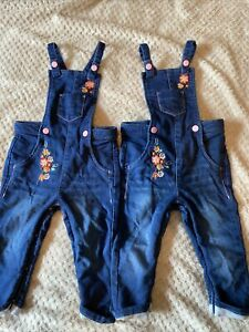Twin Girls 12-18 Month Nutmeg Dungarees