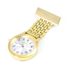 Unisex Wide Band Yellow GOLD Nurses Watch with Date Function Graduation Pack