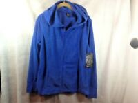 Bally Total Fitness Women's Fleece Zip Up Hoodie Royal Blue Sz L NWT