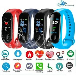 New Smart Watch Bluetooth Heart Rate Oxygen Blood Pressure Sport  Free Shipping