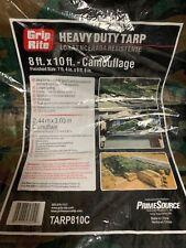 Grip Rite 25 Heavy Duty 8 ft x 10 ft Camo Tarps New in Box