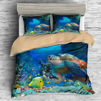 3D Disney Nemo Crush Print Duvet Cover Bedding Set Clownfish Turtle Quilt Cover