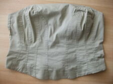*NEU* S.Oliver Korsage Gr.40 Stretch Pflegeleicht helles Khaki Shirt Top