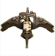 VANGUARD USMC MARINE  BADGE: MARSOC BREAST BADGE BRONZE MINIATURE