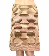 M Missoni Gold Geometric Knit Straight Knee Length Skirt - Size 12 - EUC