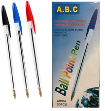 Medium Ball Pens Biros Black Blue Red Ballpoint Pen