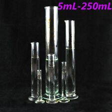 5ml~250ml Glass Measuring Cylinder Chemistry Lab Measure Graduated Professional