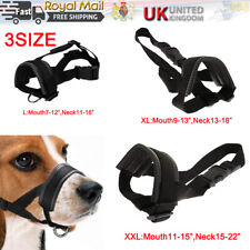 More details for 3size adjustable nylon pet dog mask bite soft mouth muzzle grooming stop chewing