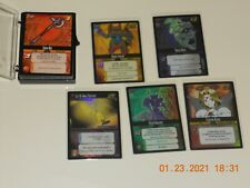 Dot Hack .Hack Enemy TCG Lot of 54 Base Cards & 5 Starter FOIL Cards (Ex.Cond