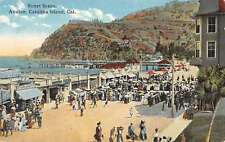 Catalina Island California Avalon Street Scene Antique Postcard K22871