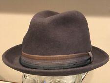"$60 Bailey Of Hollywood "" KLUGE ""  NICE Wool Hat Fedora Medium Slate Grey NEW"