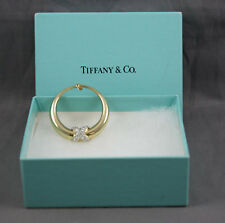 Tiffany & Co 14K Gold Diamond Odd Single Earring X Design W/Box