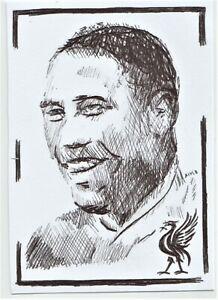 ACEO Sketch Card John Barnes Liverpool Footballer (ink)