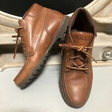 Rocky Brown Leather Ankle Boots Gore-Tex Vibram Soles Mens 7.5M Vintage USA Made