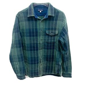 Alex Mill Green Flannel Plaid Heavy Long Sleeve Button Down Shirt Men's Size M