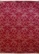 Rugstc 6.5x10 Senneh Gabbeh Red Area Rug,Vegetable dye, Hand-Knotted,Wool Pile